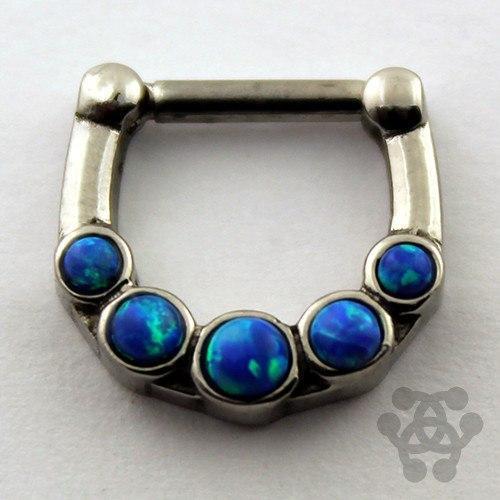 Opal Body Jewelry  Five Opal Septum er