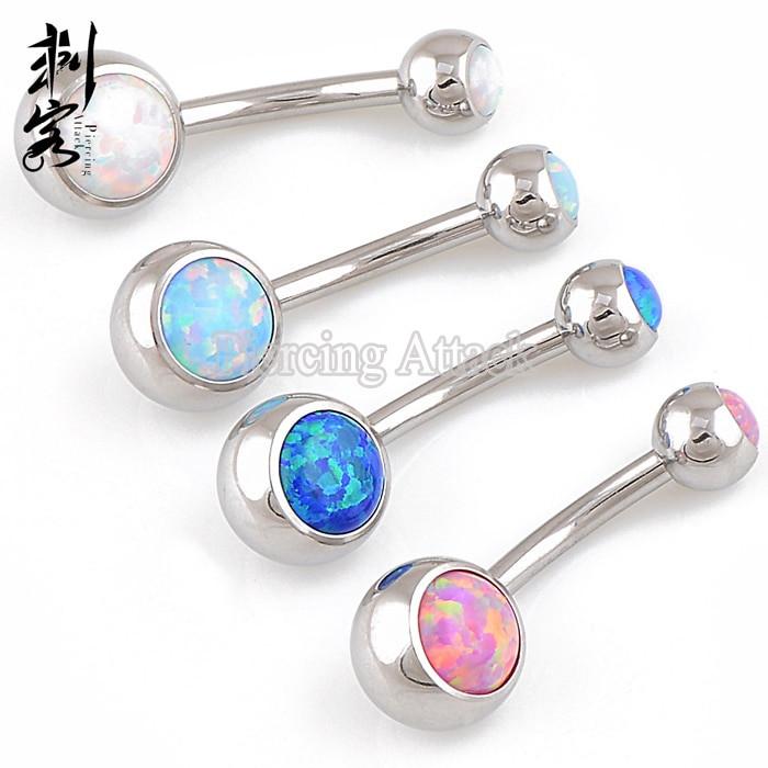 Opal Body Jewelry  Opal Double Gemmed Belly Ring Opal Body Jewelry Lots of