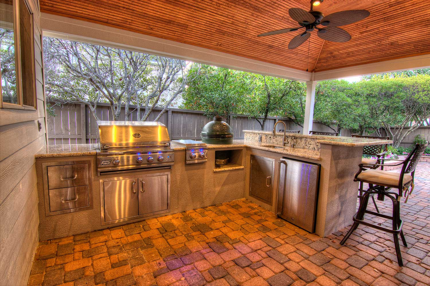 Outdoor Kitchen Deck  Outdoor Kitchens HHI Patio Covers Houston