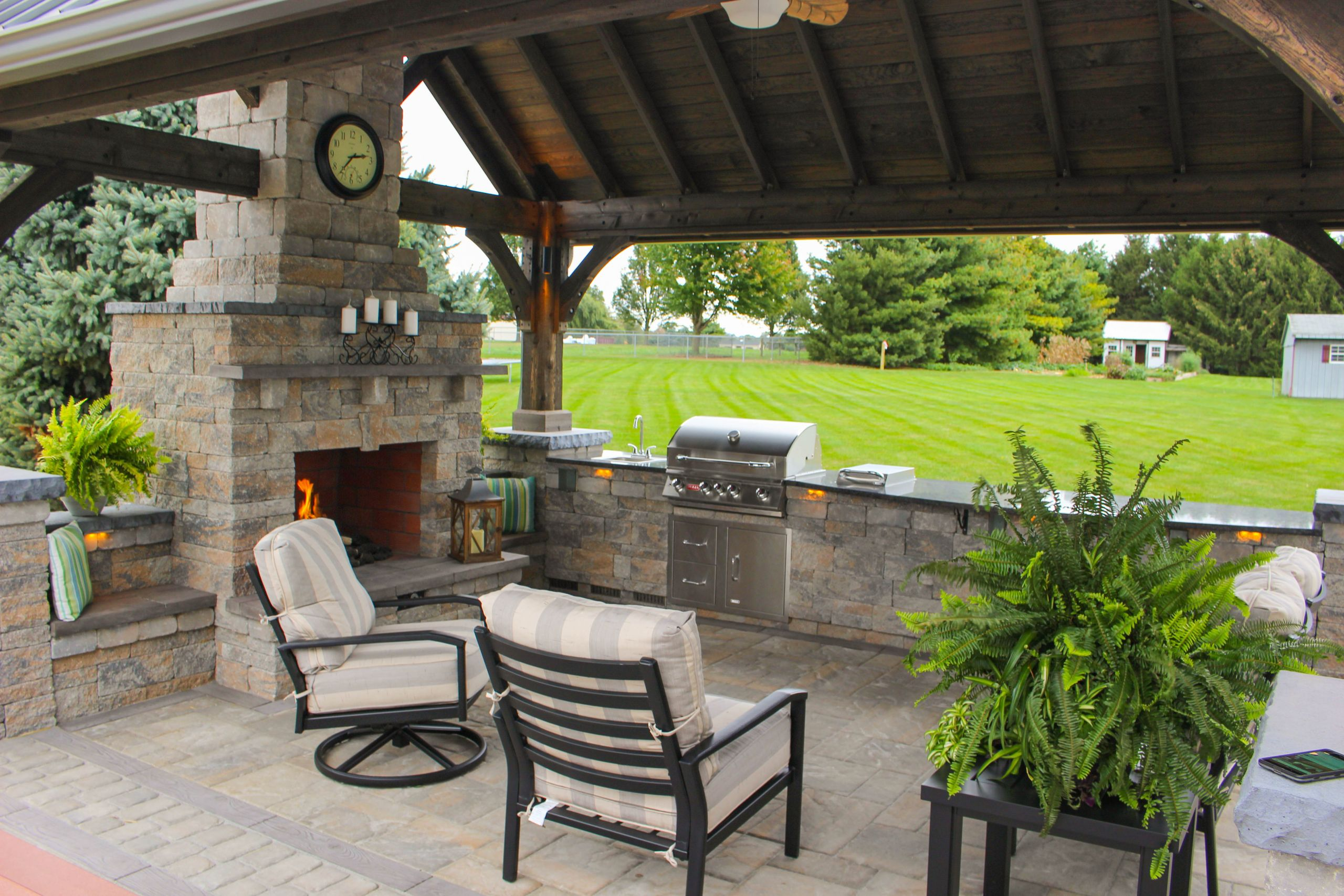 Outdoor Kitchen Deck  Outdoor Patio with Pavilion
