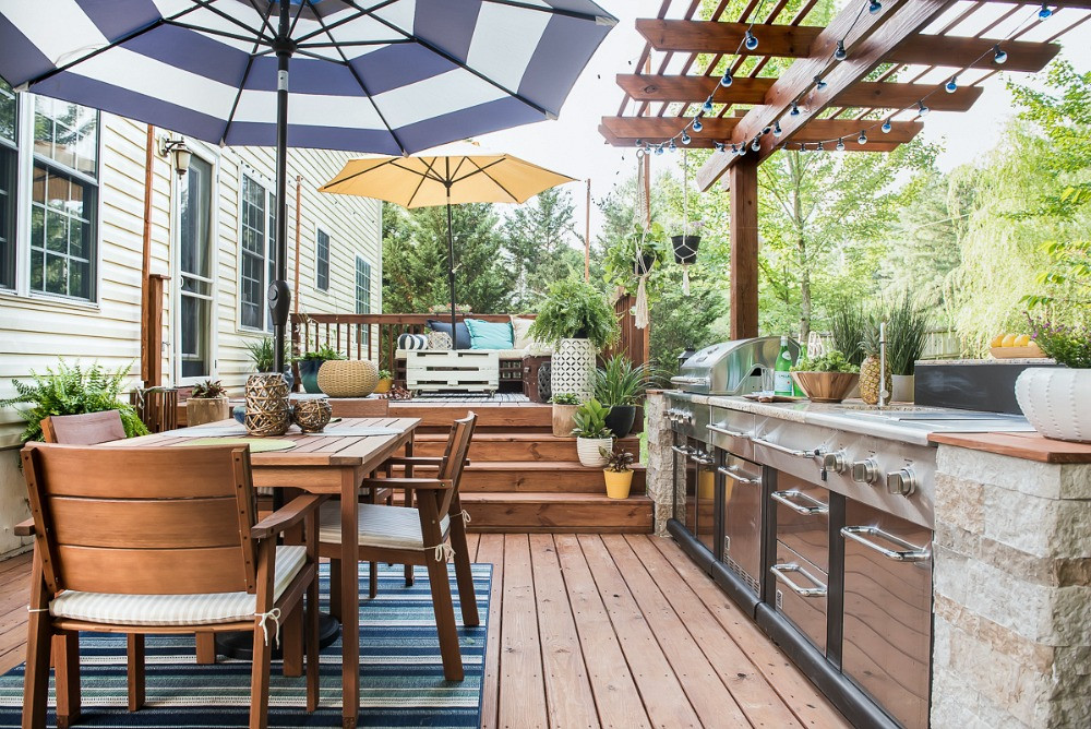 Outdoor Kitchen Deck  An Amazing DIY Outdoor Kitchen A Simple Way to Add Style