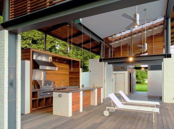 Outdoor Kitchen Deck  Top 60 Best Outdoor Kitchen Ideas Chef Inspired Backyard