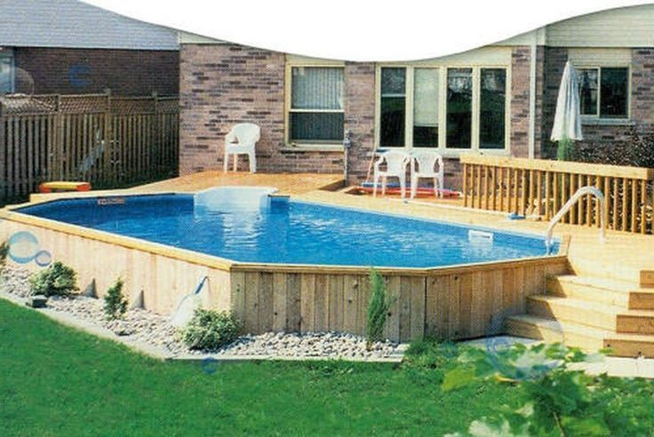 Oval Above Ground Pool  43 best images about LARGE Ground Pools on Pinterest