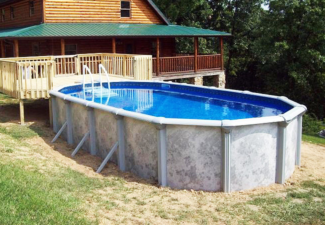 Oval Above Ground Pool  Oval Ground Pools Buttress vs Buttress Free
