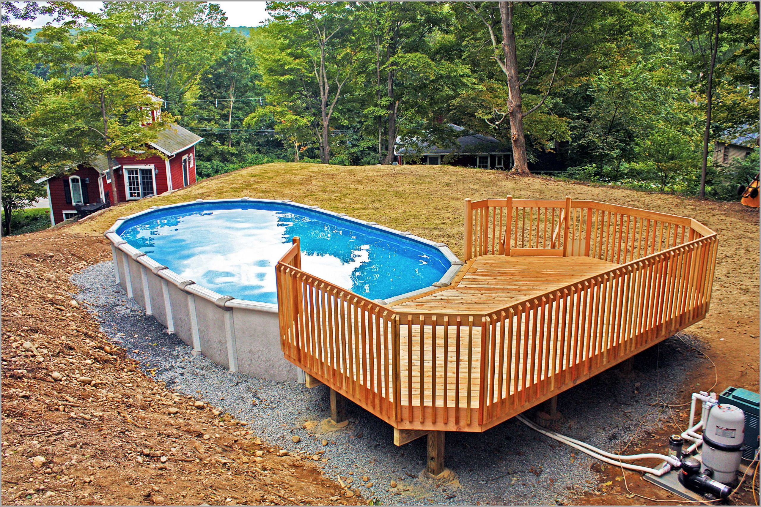 Oval Above Ground Pool  50 Best Ground Pools with Decks