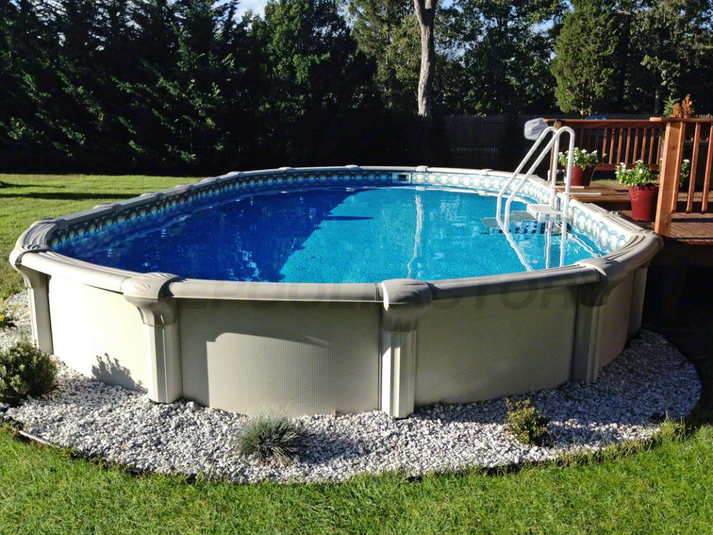Oval Above Ground Pool  Semi inground Pool s The Pool Factory