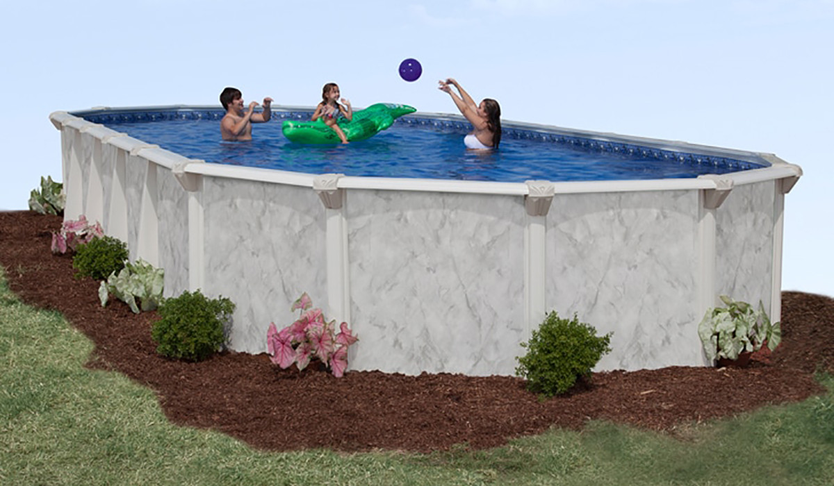 """Oval Above Ground Pool  12 x 20 Oval 52"""" Deep Sterling Ground Pool Kit"""