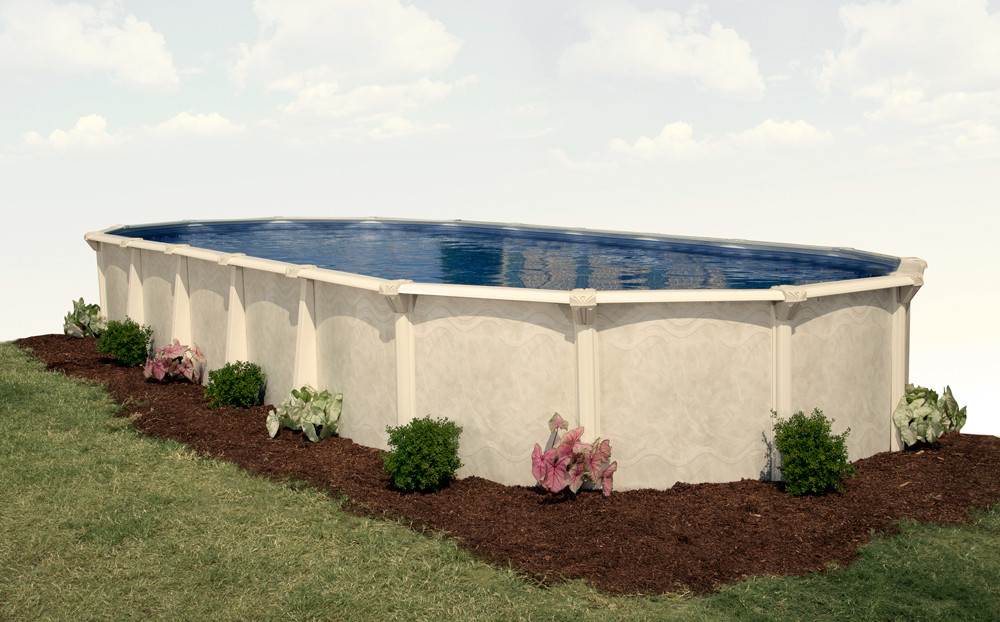 """Oval Above Ground Pool  12 x 24 Oval 52"""" Embassy Century by H I I MFG of"""
