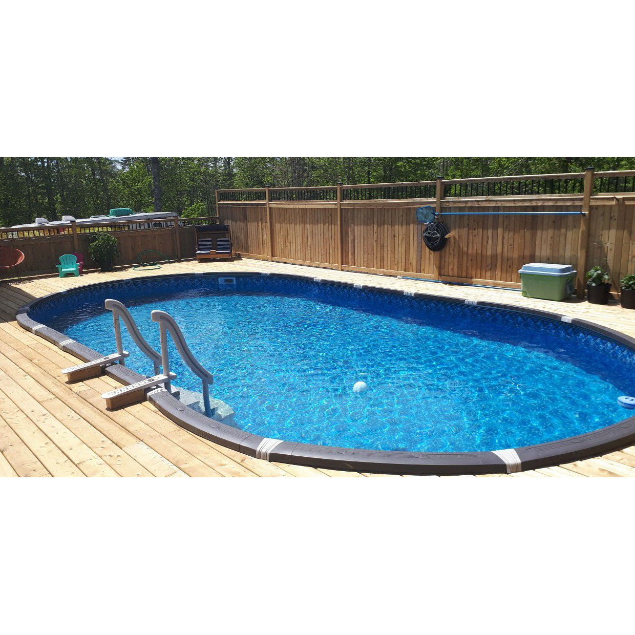Oval Above Ground Pool  Element 18 x 33 Oval Ground Pool