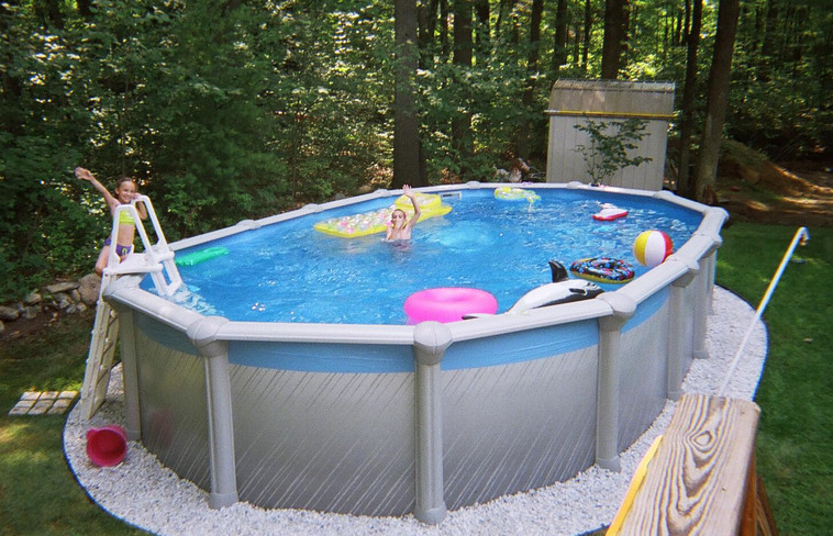 Oval Above Ground Pool  16×32 Oval Ground Pool