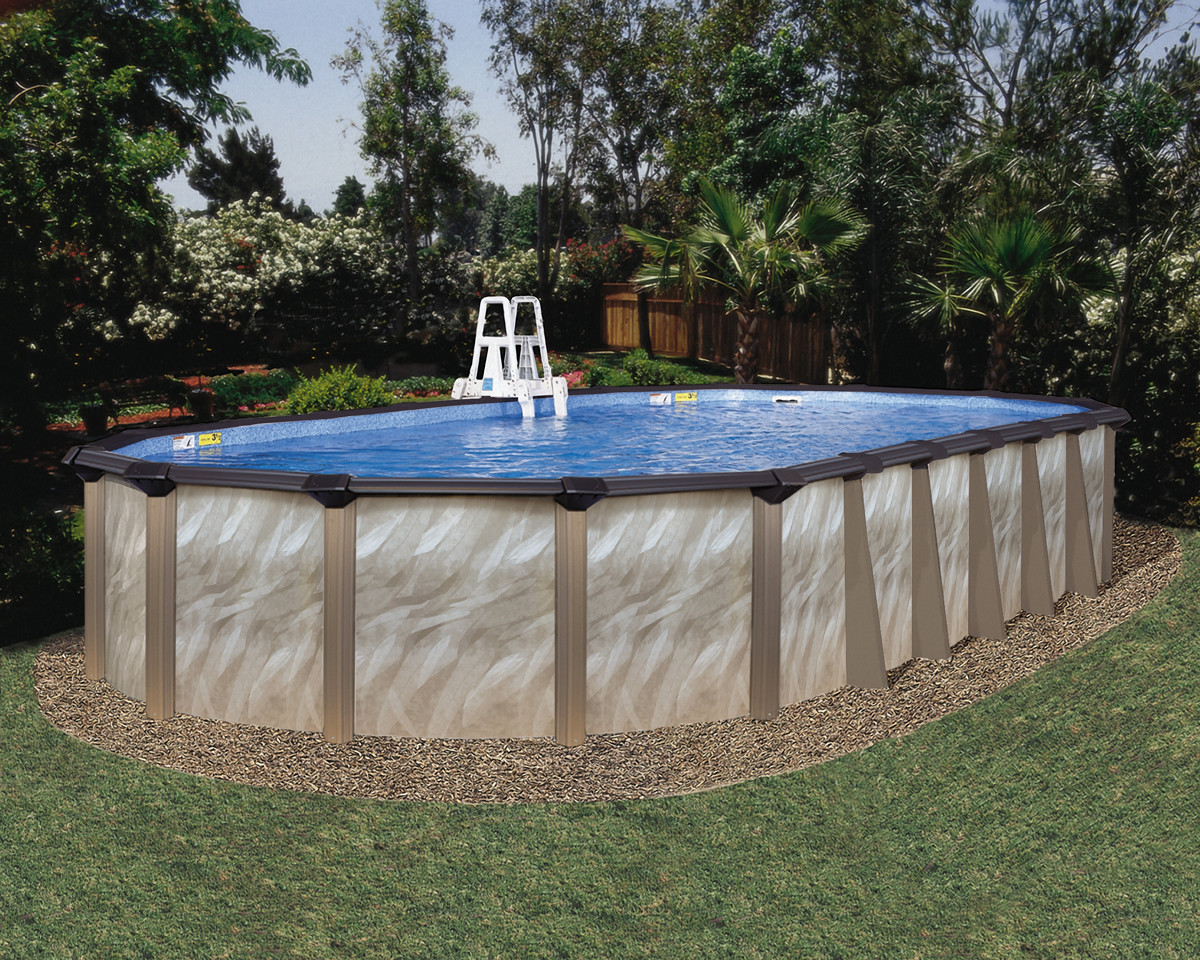 """Oval Above Ground Pool  16 x 32 Oval 52"""" Embassy Andes by H I I MFG of Doughboy"""