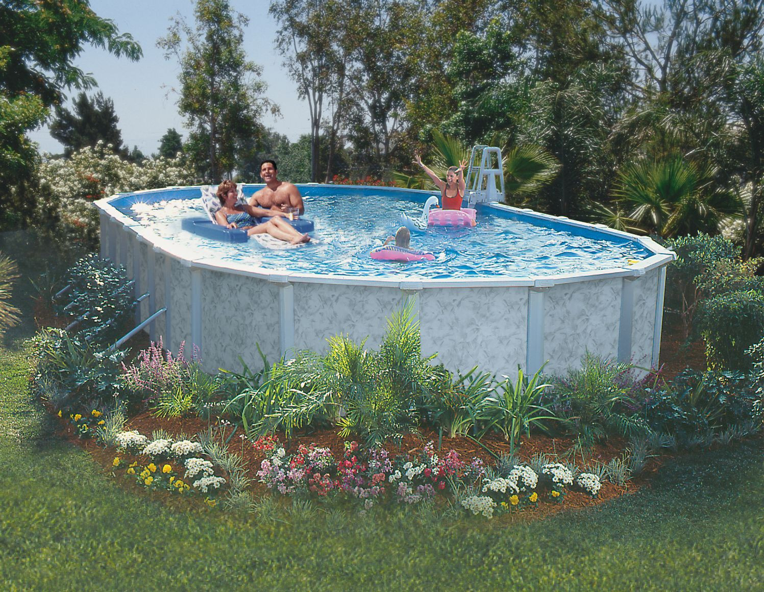 """Oval Above Ground Pool  GSM 10 x 15 Oval Ground Pool Package 52"""" Height"""