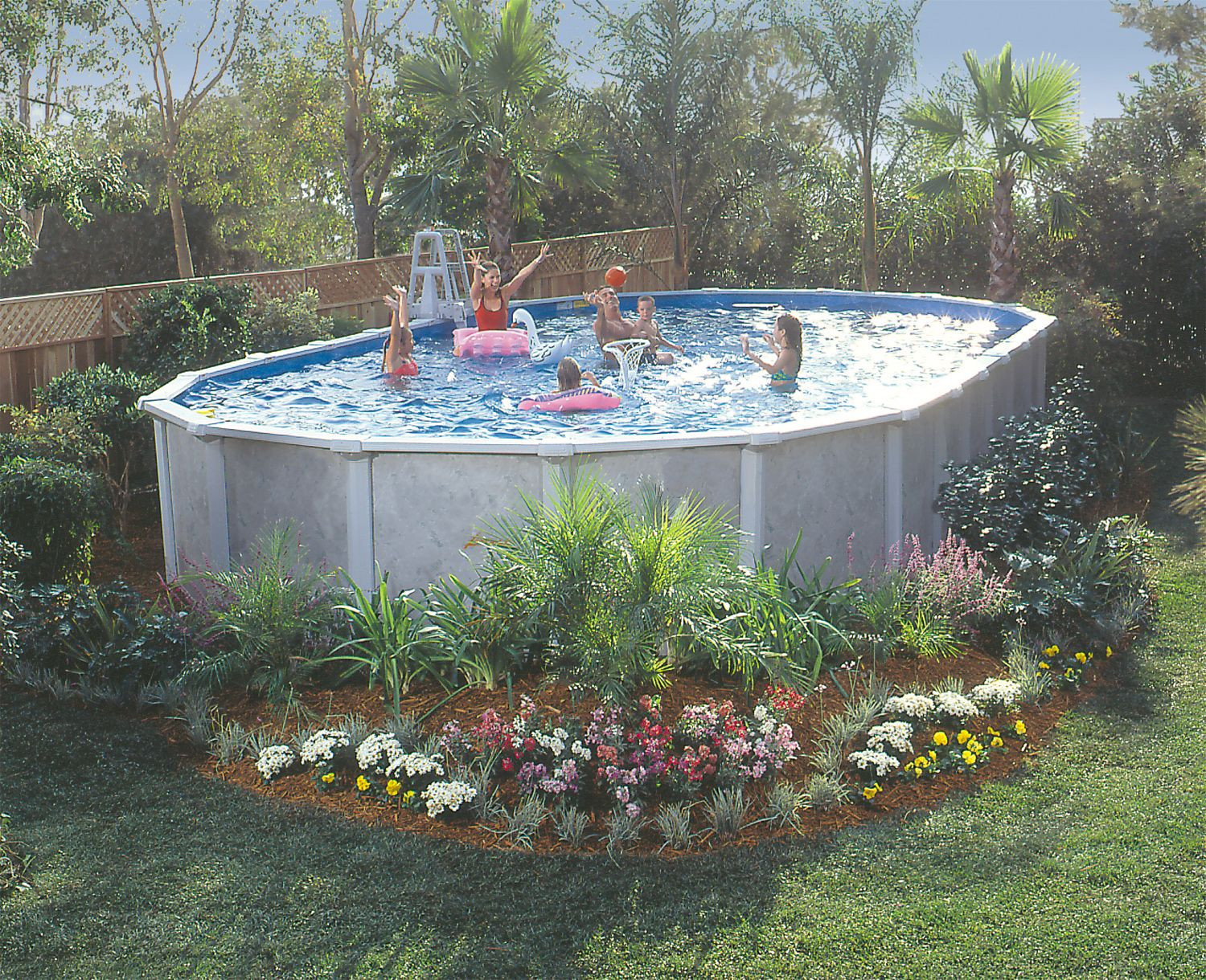 Oval Above Ground Pool  GSM 18 x 33 Oval Vero Beach Ground Pool Package