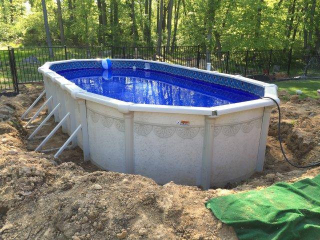 Oval Above Ground Pool  Buttress vs Buttress Free Oval Swimming Pools
