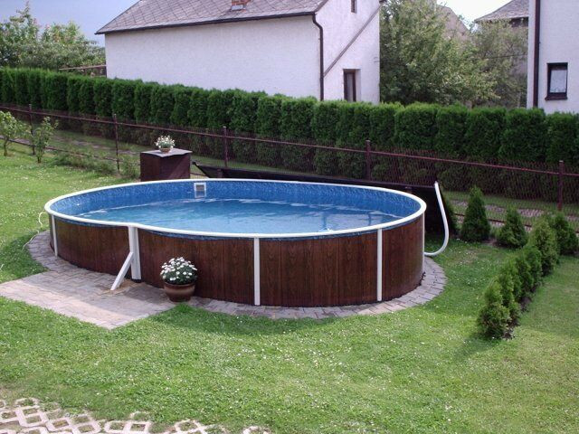 Oval Above Ground Pool  Ground Swimming Pool Kit 18x12ft Oval