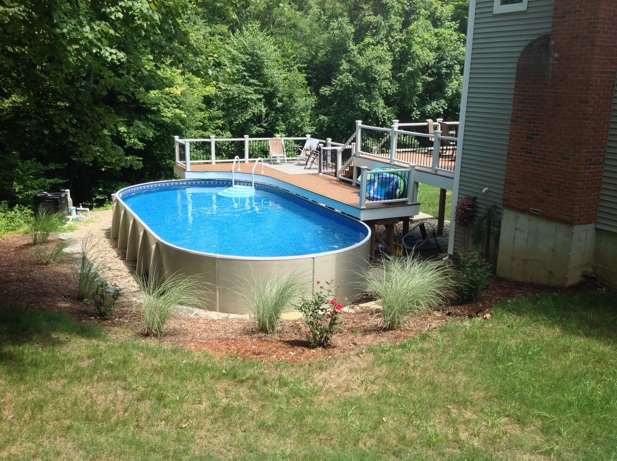 Oval Above Ground Pool  Ground Pools Sabrina Pools Coventry CT