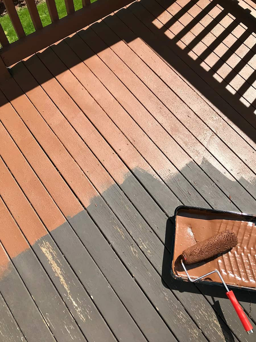 Paint A Deck  How to Restore an Old Deck Jenna Kate at Home
