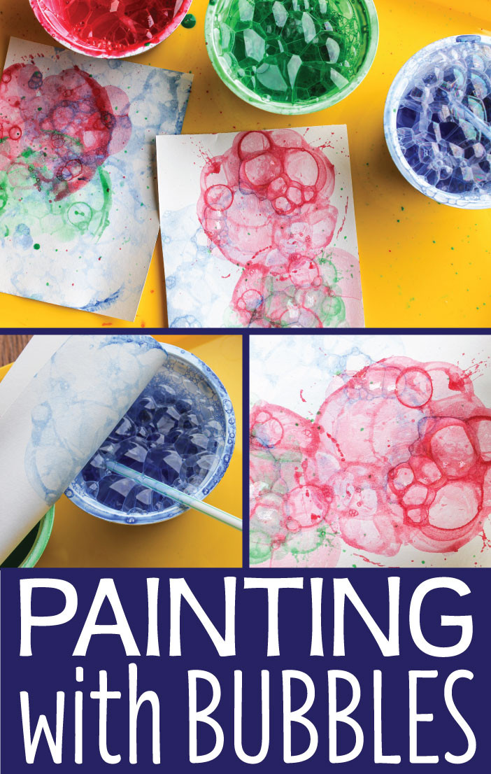 Paint Ideas For Preschoolers  Art Activities for Kids Painting with Bubbles Early