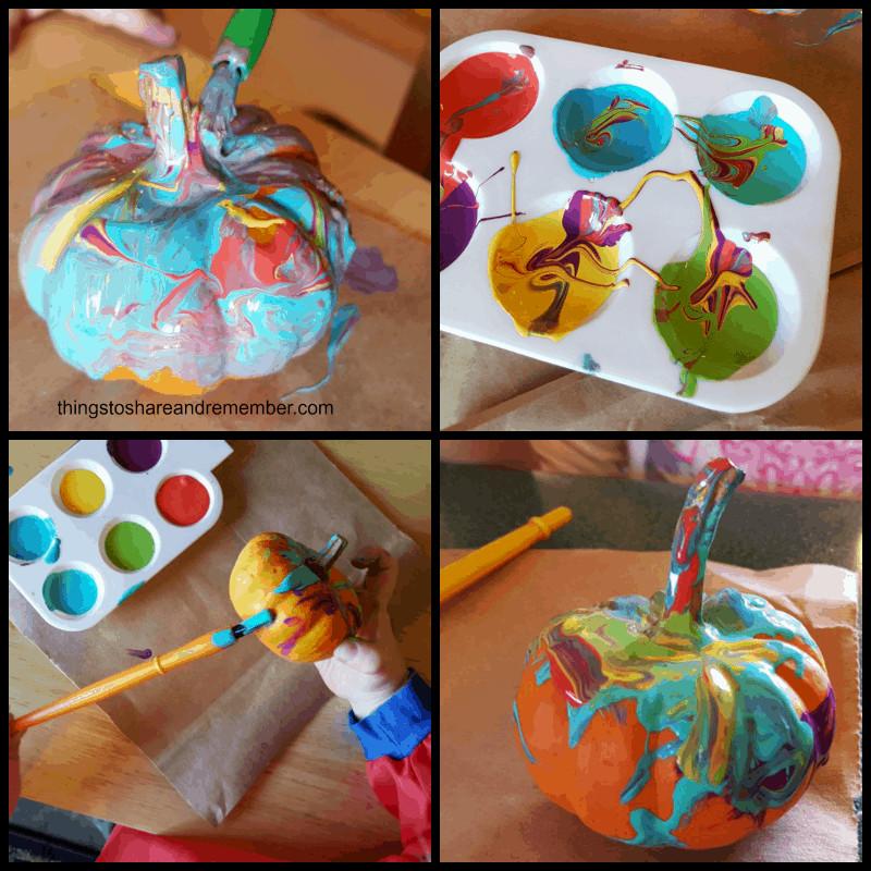 Paint Ideas For Preschoolers  Painted Mini Pumpkins