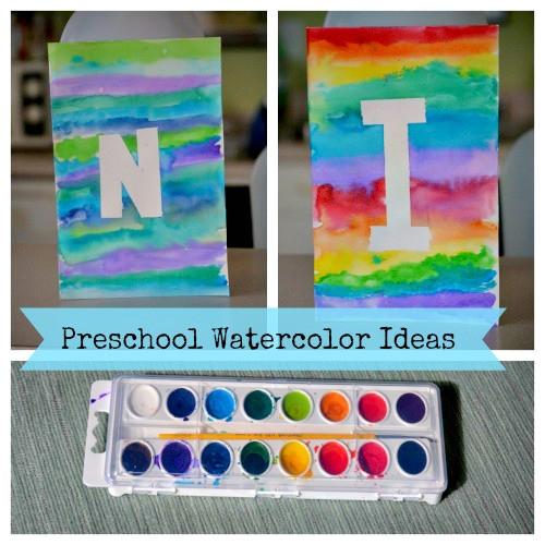 Paint Ideas For Preschoolers  Watercolor Ideas for Kids