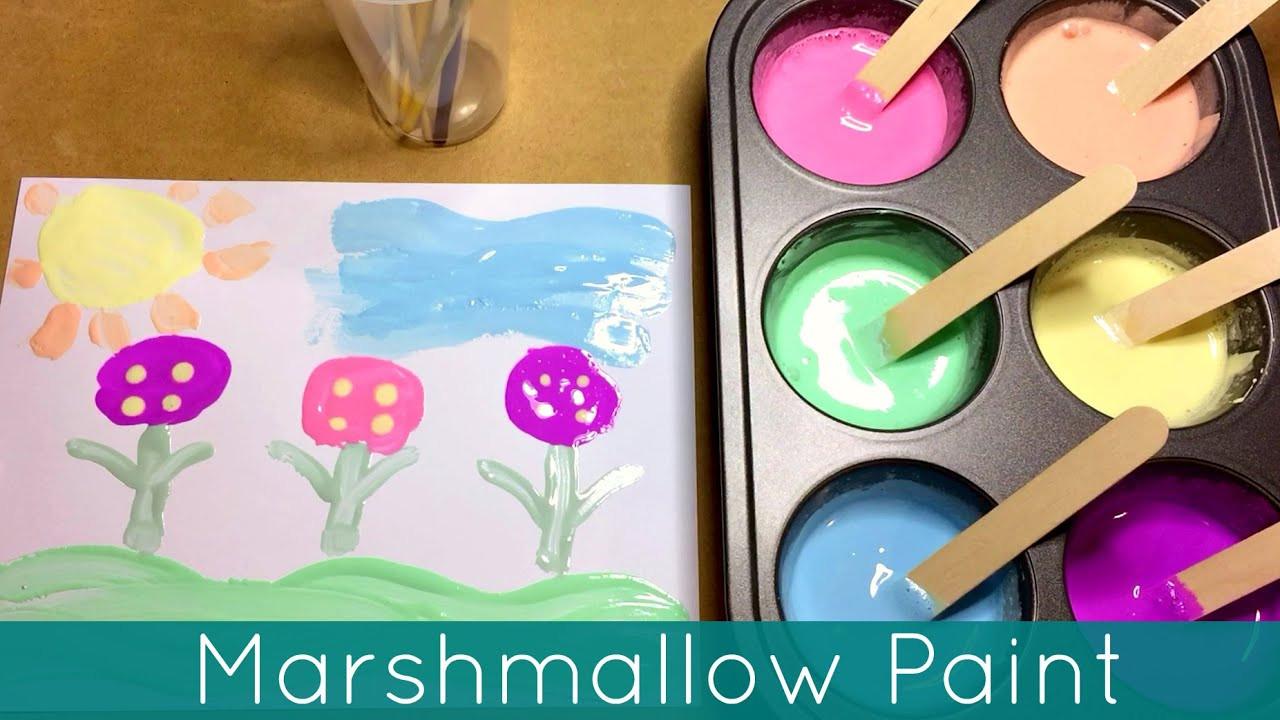 Paint Ideas For Preschoolers  Marshmallow Paint Art Center Activity For Preschool and
