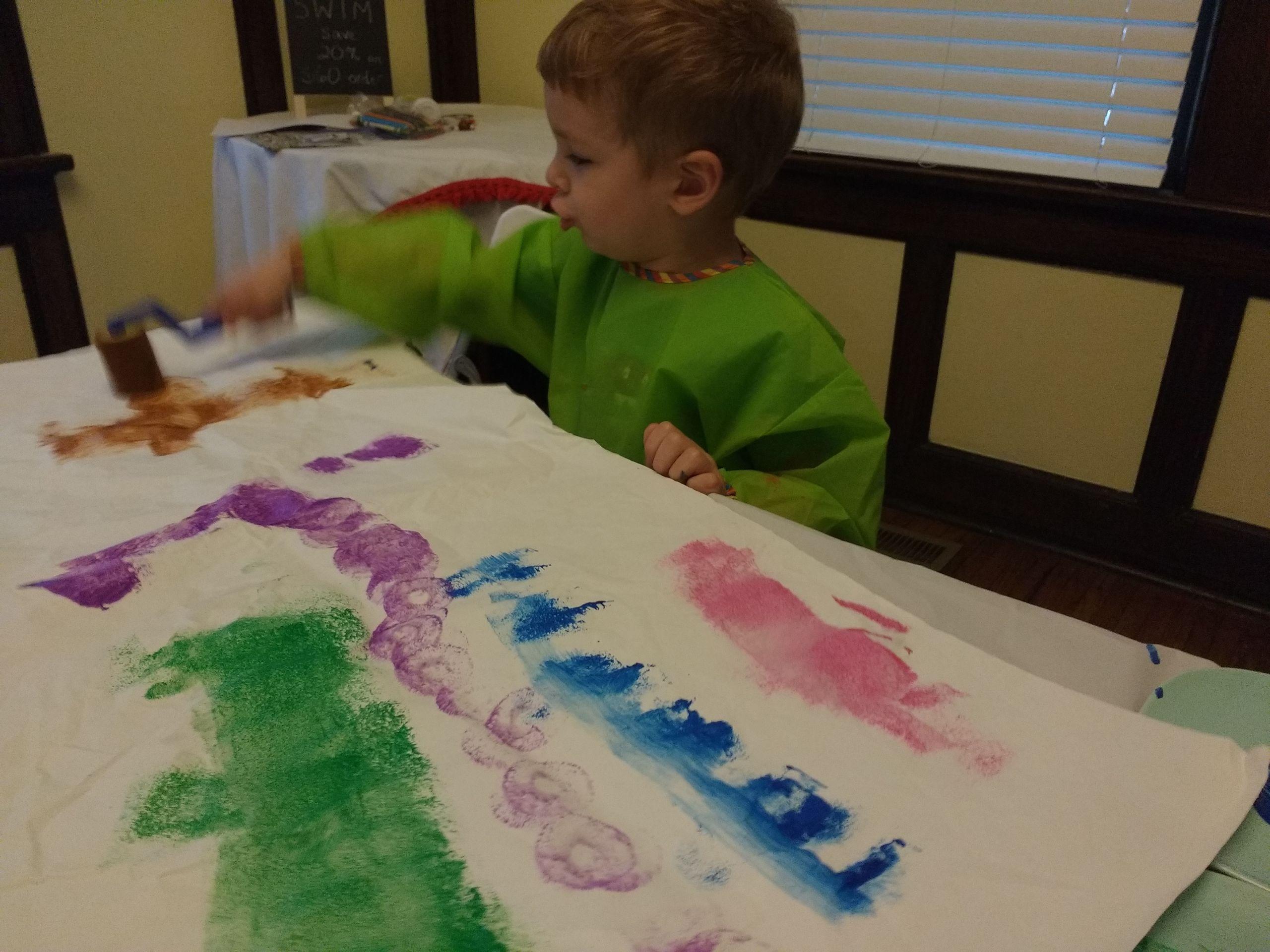 Paint Ideas For Preschoolers  Nine Easy Process Art Painting Ideas for Preschoolers