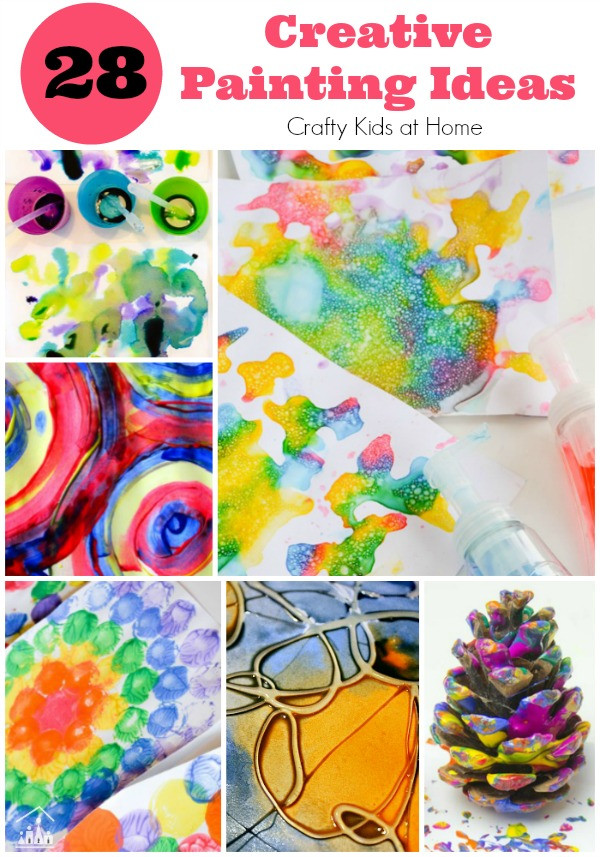 Paint Ideas For Preschoolers  28 Creative Painting Ideas for Kids Crafty Kids at Home