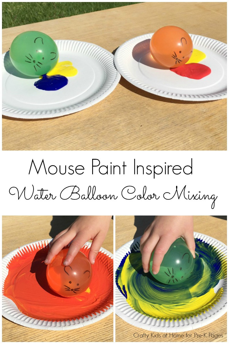 Paint Ideas For Preschoolers  Mouse Paint Water Balloon Painting Pre K Pages