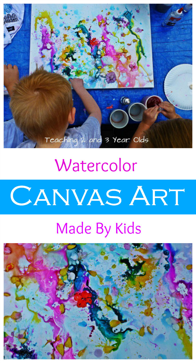Paint Ideas For Preschoolers  Kids Canvas Painting Teaching 2 and 3 Year Olds
