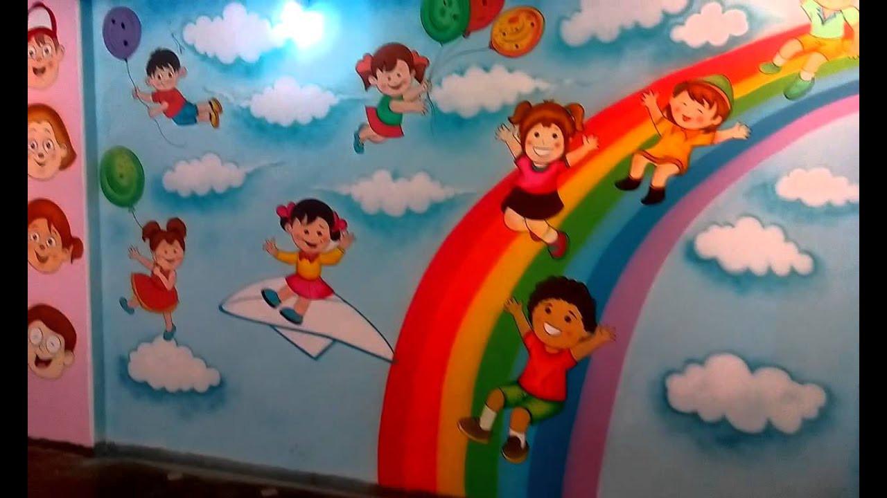 Paint Ideas For Preschoolers  Preschool Playschool Classroom Wall Theme Painting Mumbai