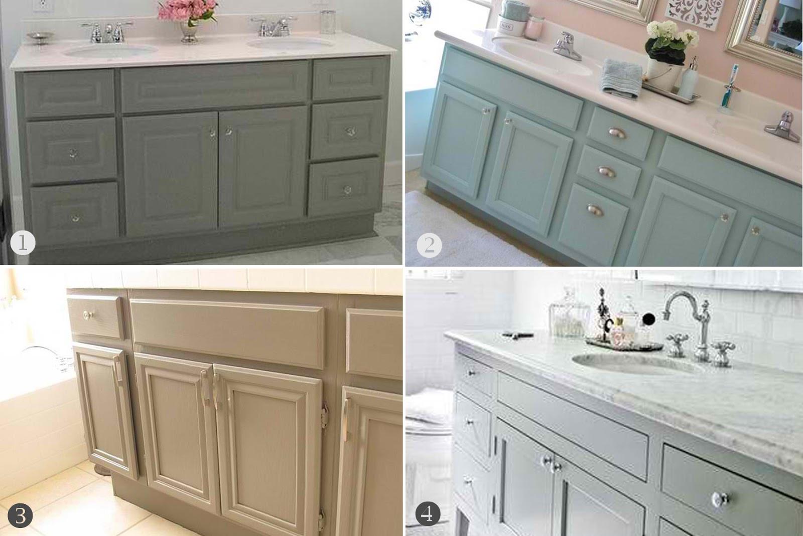 Painting Bathroom Cabinets  home bathroom cabinets upgrade – Inspired Honey Bee