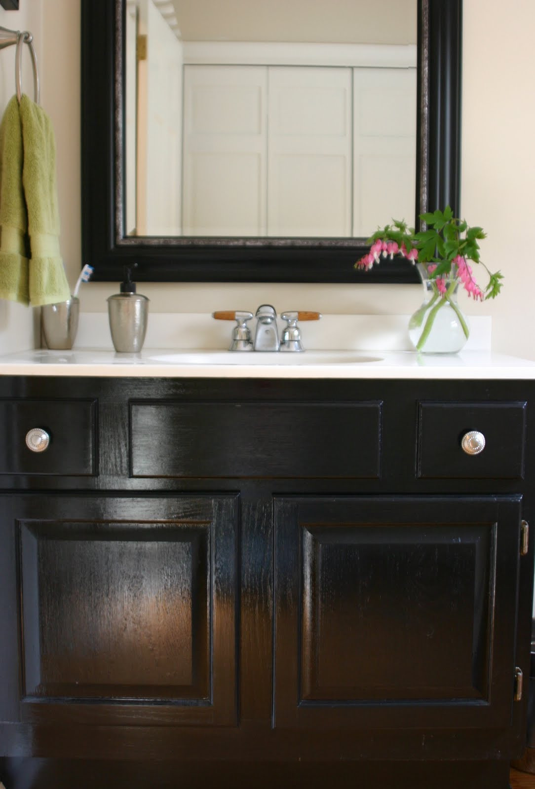 Painting Bathroom Cabinets  Powder Room De Peachificiation Shine Your Light