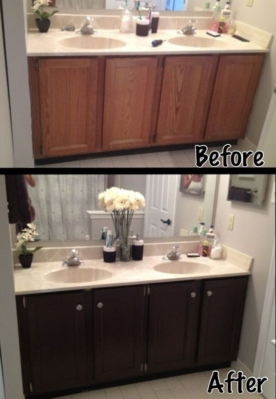 Painting Bathroom Cabinets  20 Smartest Ways of Painting Bathroom Vanity Before And After