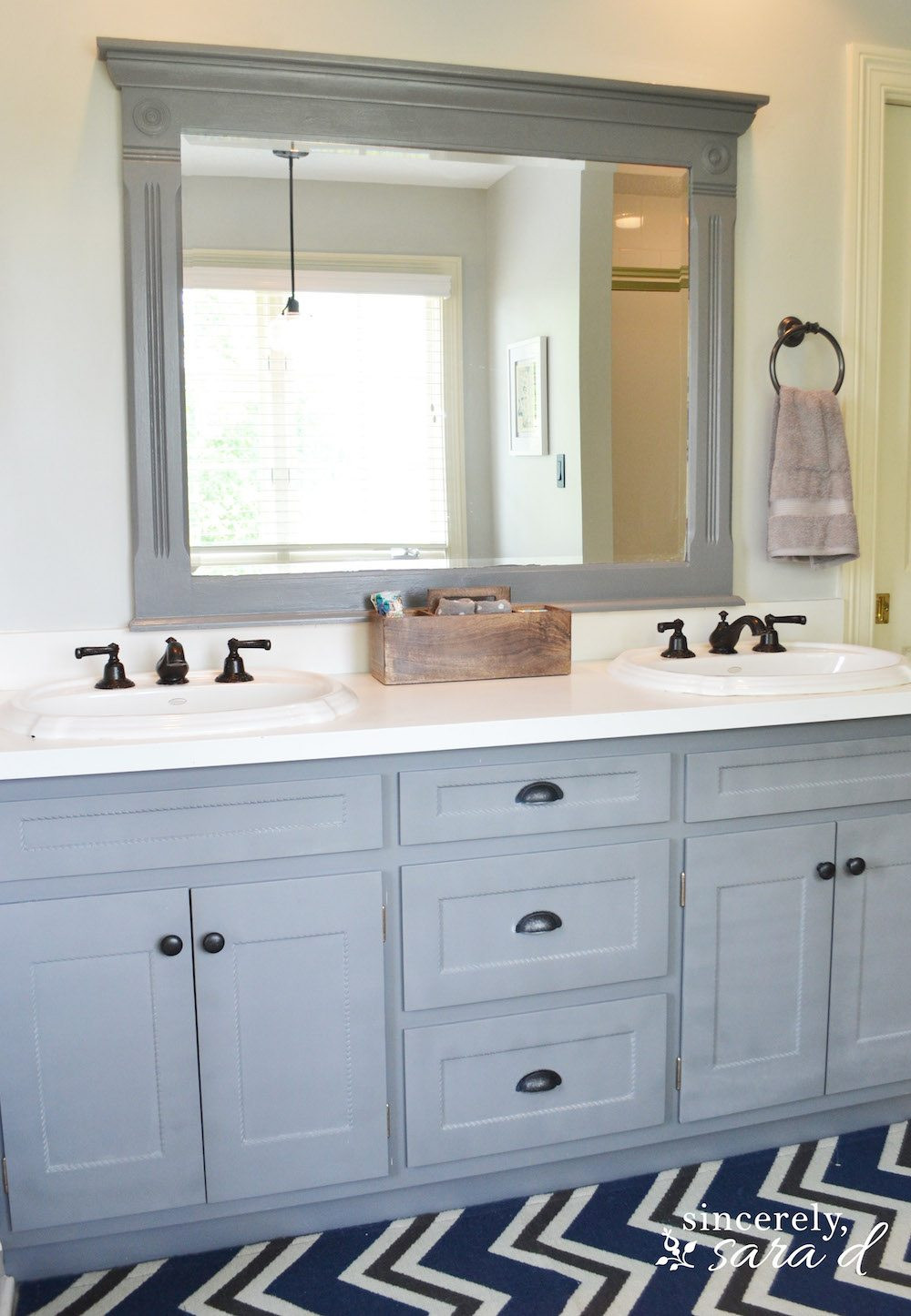 Painting Bathroom Cabinets  Painting Cabinets and Using Shortcuts Sincerely Sara D