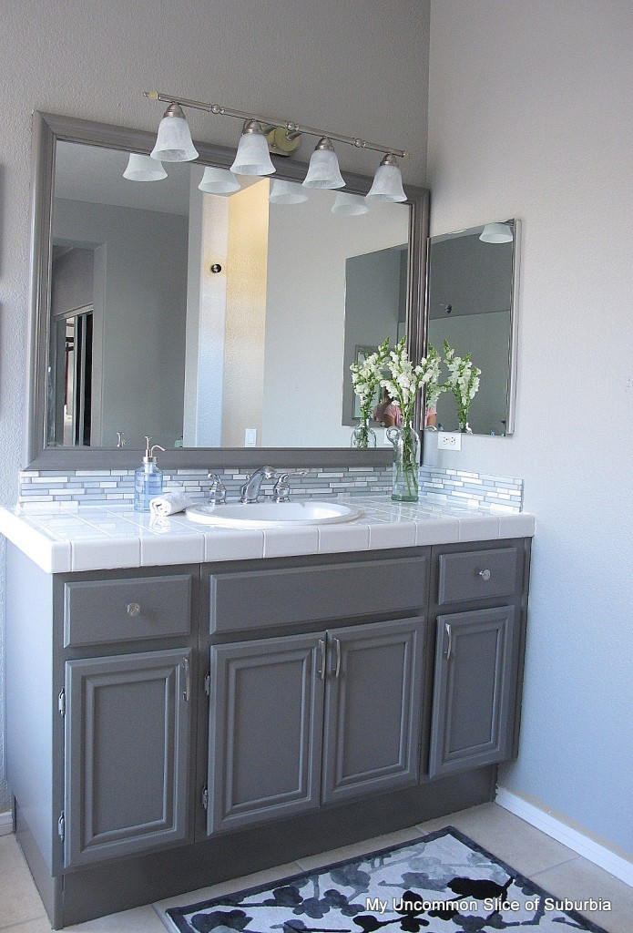 Painting Bathroom Cabinets  How to paint oak cabinets