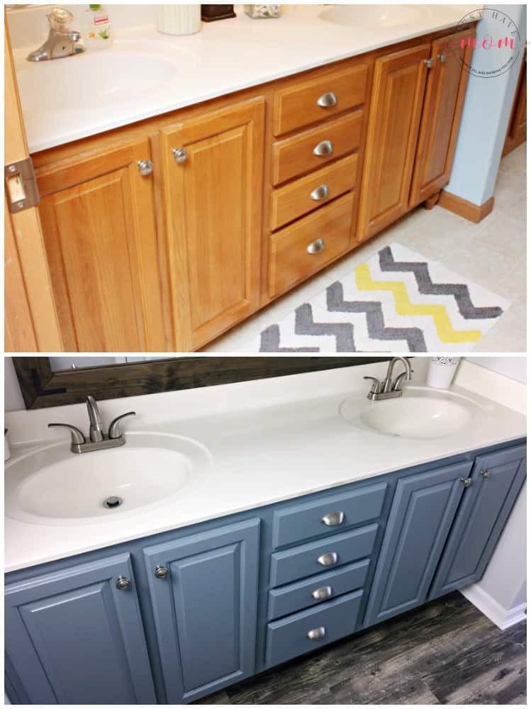 Painting Bathroom Cabinets  Farmhouse Style Fixer Upper Bathroom A Bud Must