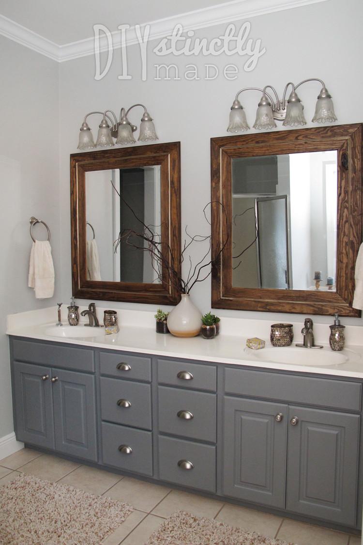Painting Bathroom Cabinets  Painted Bathroom Cabinets – DIYstinctly Made