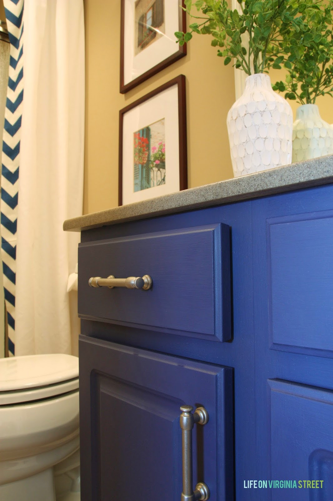 Painting Bathroom Cabinets  Bathroom Vanity Makeover Using Country Chic Paint Life