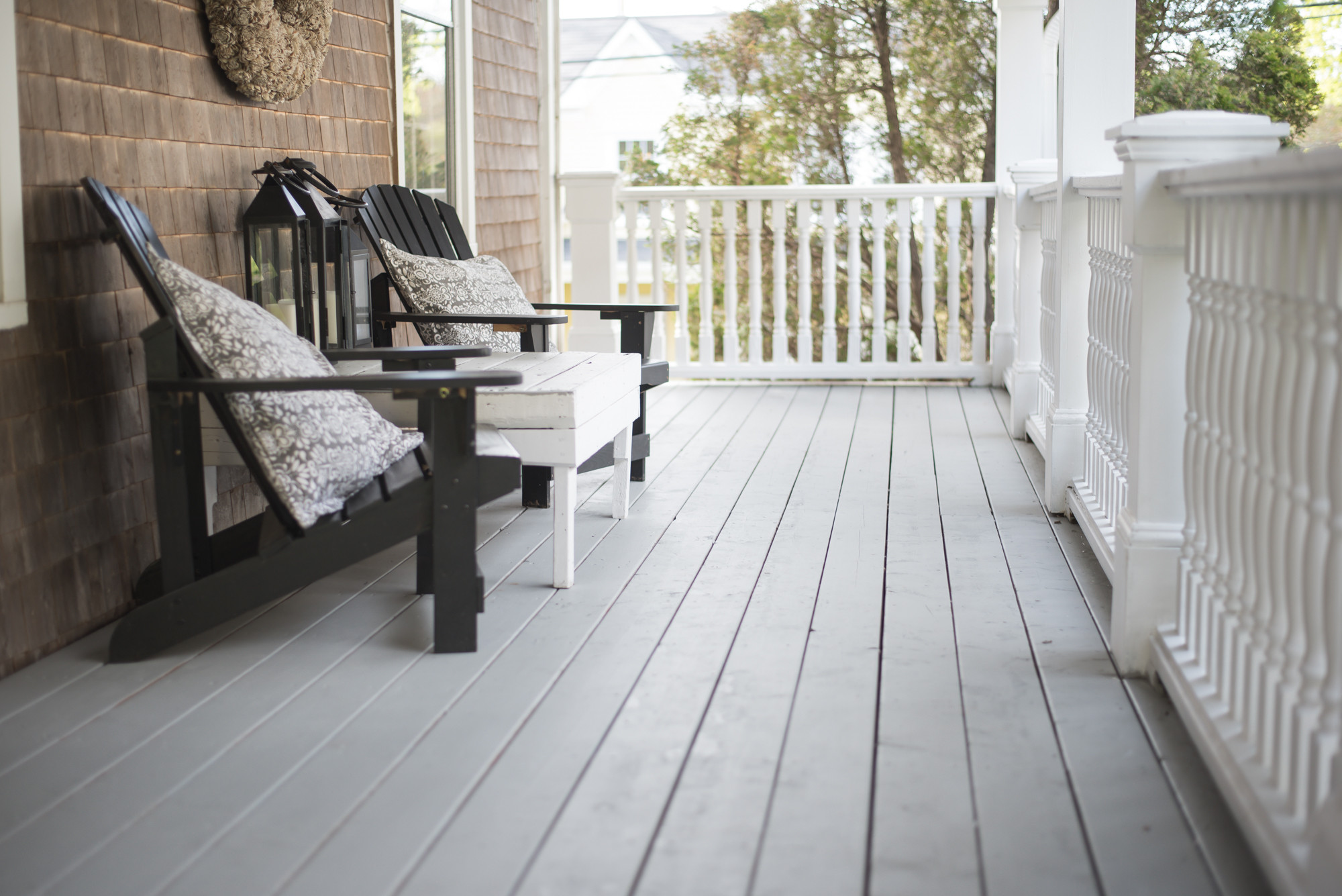 Painting Your Deck  Wild Rosebuds Re Finishing our Deck with Premier Paint By