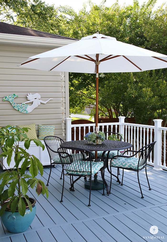 Painting Your Deck  All Decked Out Total Deck Makeover Sand and Sisal