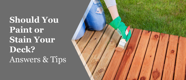 Painting Your Deck  Painting Vs Staining Your Deck