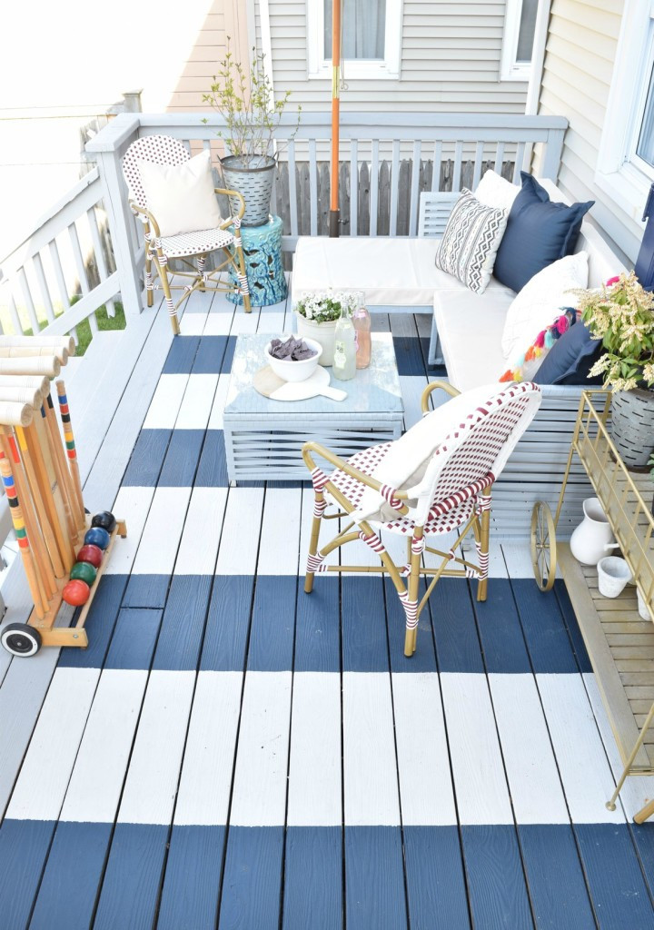 Painting Your Deck  12 Stylish Porch Deck and Patio Decor Ideas Setting for