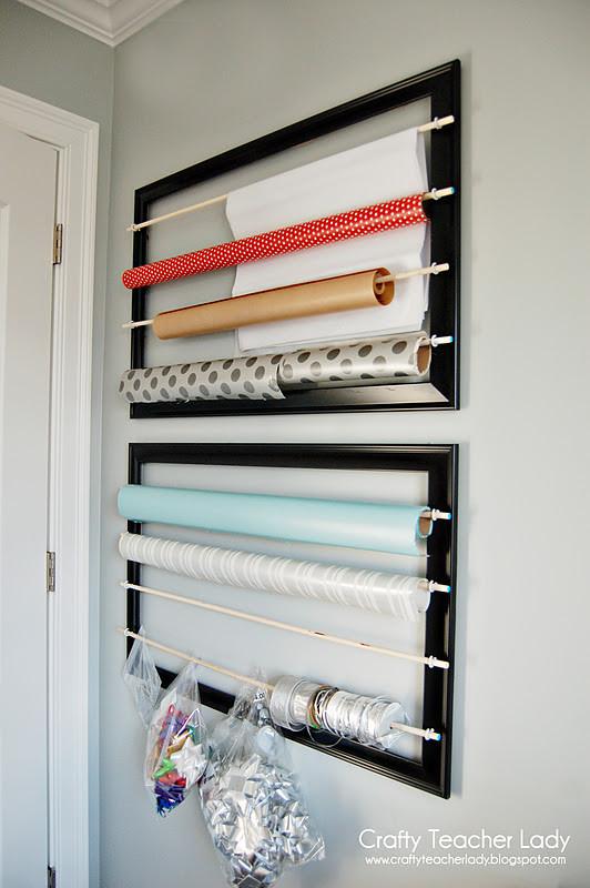 Paper Organizer DIY  Crafty Teacher Lady Wrapping Paper Organizer
