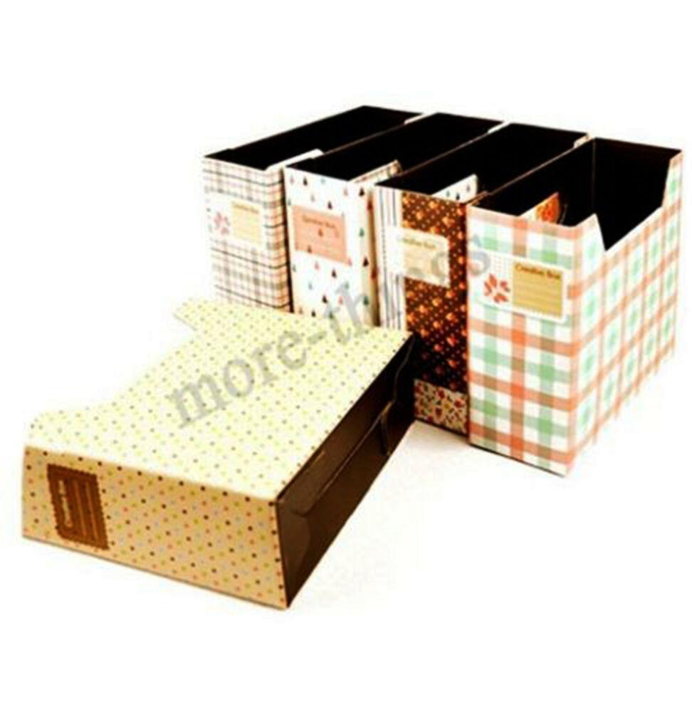 Paper Organizer DIY  DIY Paper Board Storage Box Desk Decor Organizer