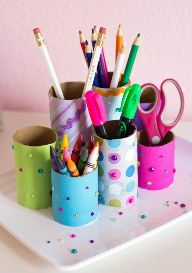 Paper Organizer DIY  Kids Craft Week DIY Desk Organizer Design Improvised