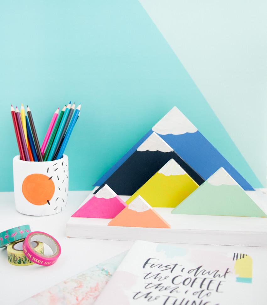 Paper Organizer DIY  DIY Mountain Range Paper Organizer A Kailo Chic Life