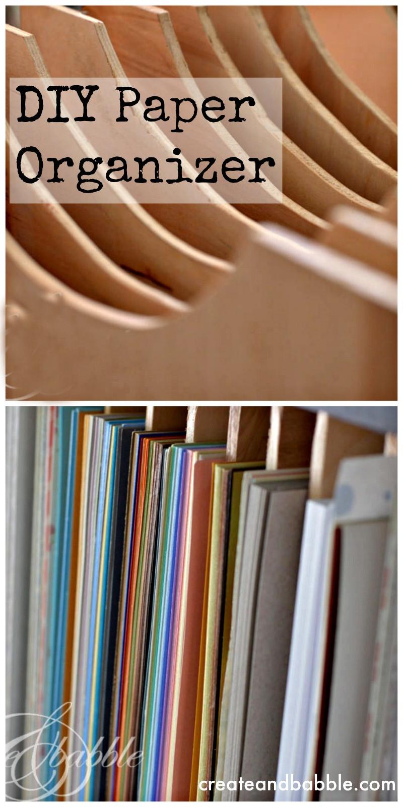 Paper Organizer DIY  DIY Paper Organizer Someday Crafts