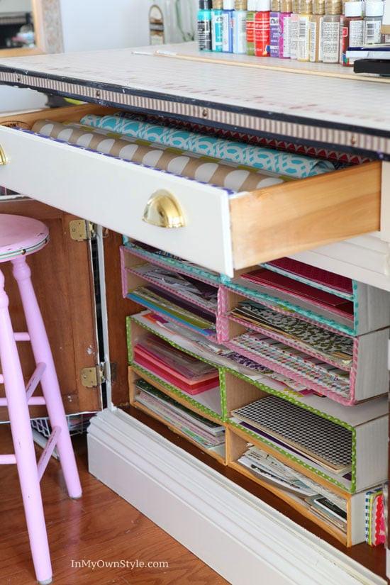 Paper Organizer DIY  DIY Scrapbook Paper Organizer In My Own Style