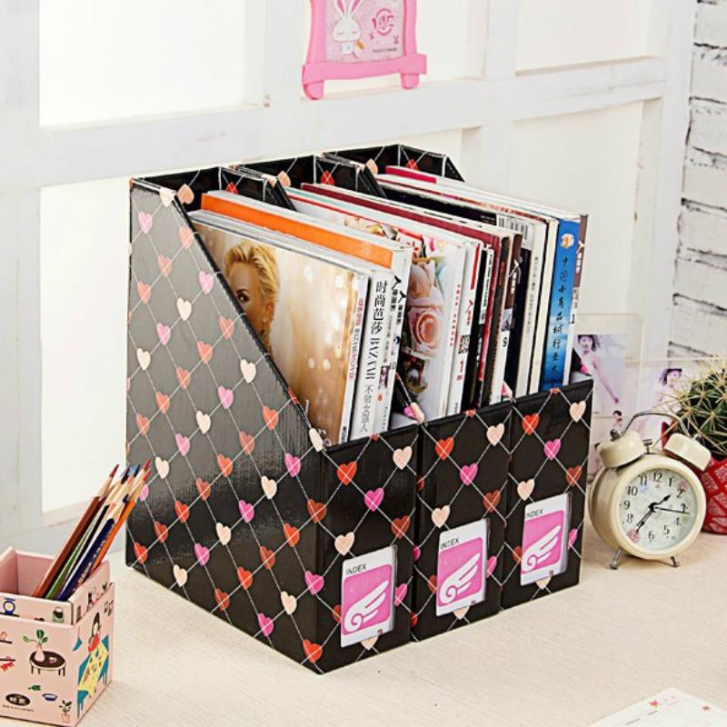 Paper Organizer DIY  Heart Kraft Paper Desk Organizer DIY Desktop Storage Box