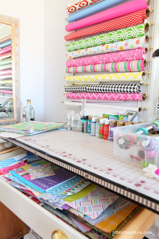 Paper Organizer DIY  DIY Scrapbook Paper Organizer